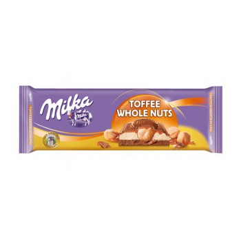 Milka 300g Toffe Whole Nuts...