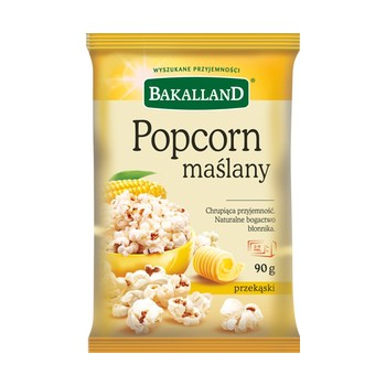 Popcorn Maślany 90g Bakalland