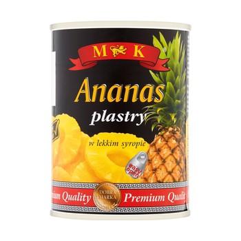 Ananas Plastry 565g MK
