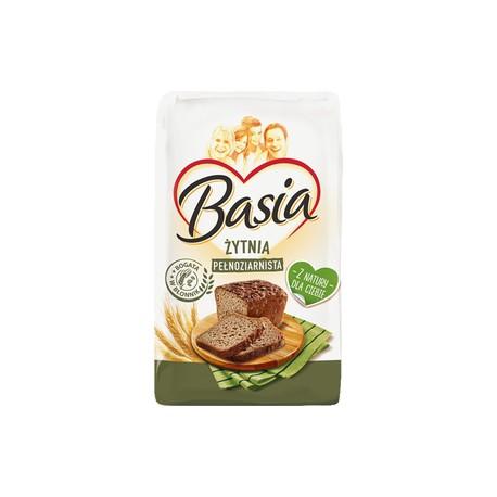 Mąka Basia Żytnia Pełneziarno 1kg