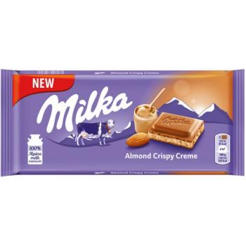 Milka 90g Almond  Crispy...